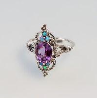 27519 925er Silber Amethyst-Opal- Ring Gr. 58