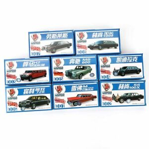 8-Stueck-1-87-4d-Dehnbar-Limousines-Neuer-Modell-Bausatz-Chevrolet-Hummer-Sorten
