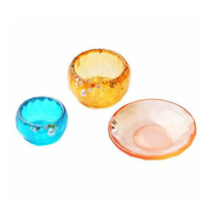 DIY Silicone Resin Mold Dishes Saucer Bowl Model Making Mould Jewelry Craft Tool