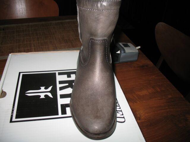 e8436451624 Frye Womens Cara Short Leather Boot Smoke 6.5 M US