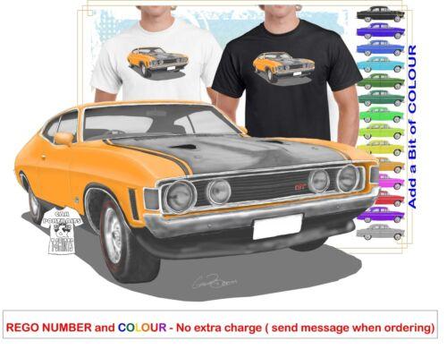 CLASSIC 72-73 XA FALCON COUPE ILLUSTRATED T-SHIRT MUSCLE RETRO SPORTS CAR