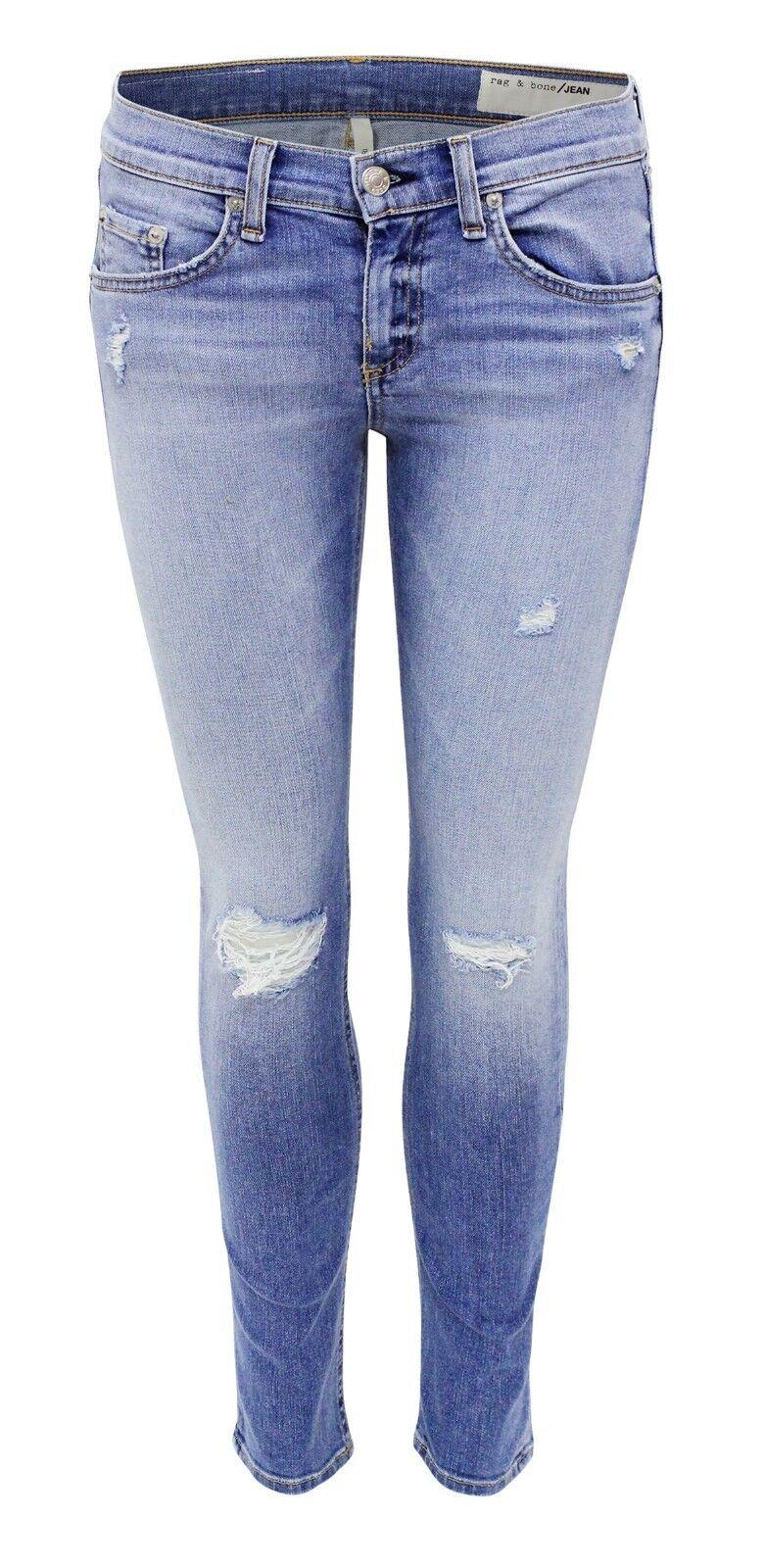 Rag & Bone Skinny Capri Jeans Gunnar hellblue  washed DENIM GR.31 NEU 56930