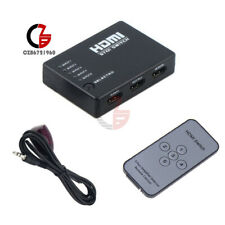 5 Port 1080p Video HDMI Switch Switcher Splitter for HDTV Ps3 DVD IR Remote