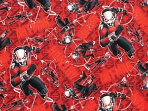 """15/"""" x 43/"""" Ant Man Marvel Comics Super Hero Insect Wasp Patches on Cotton Fabric"""