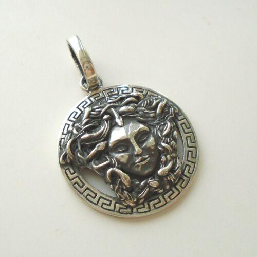 Nouveau Exclusif Pendentif en argent sterling Medusa Gorgon Head Collier Médaillon