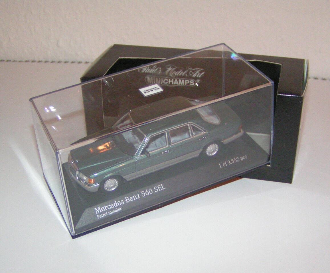 Mercedes-Benz W 126 S-Klasse 560 SEL - Petrol metallic - Minichamps 1 43