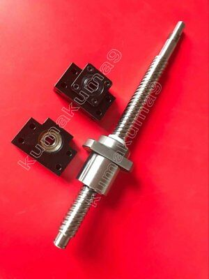1 anti backlash 20mm ballscrew RM2005-1200mm-C7+BK//BF15 end bearing support CNC