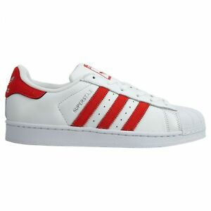 Neu Details about Adidas Superstar Mens BZ0191 White Solar Red Leather Shell Toe Shoes Size 7
