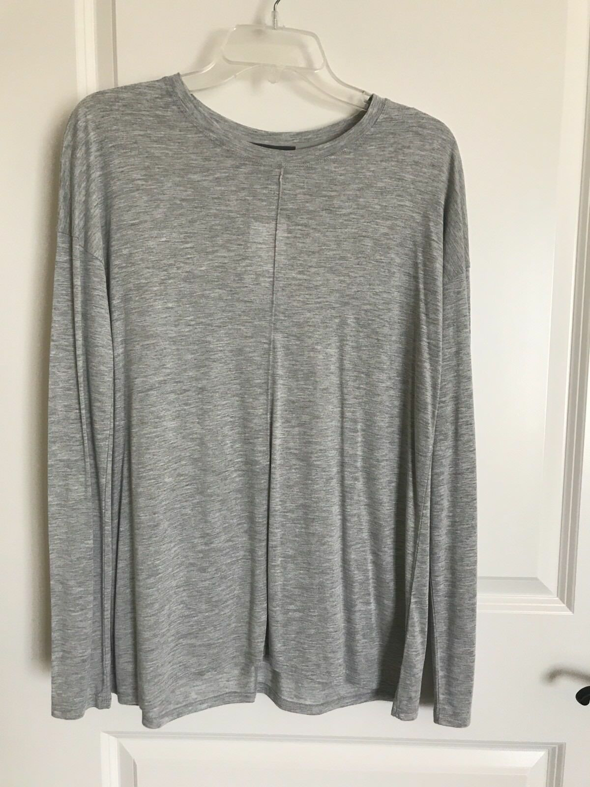 NWT  Vince Heather grau Long Sleeve Viscose Top in XS, So Soft