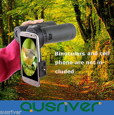 Binoculars & Telescopes Cheap Price Black Universal Cell Phone Camera Binoculars Interface Bracket Adapter Mounts Good For Antipyretic And Throat Soother Cameras & Photo