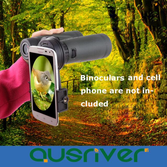 Black Universal Cell Phone Camera Binoculars Interface Bracket Adapter Mounts