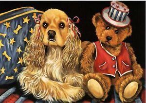 Precious-Pets-Garden-Flag-Cocker-Spaniel-Annie-amp-Henri-12-034-x-18-034-Charity