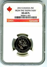 2012 CANADA 25 CENT NGC MS68 PL TOOTH FAIRY PROOF LIKE QUARTER RARE TOP POP !!