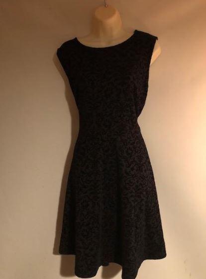 f3e082a122 Joe Browns Rich Purple Black Flock Velvet Ornate Gothic Skater Dress Size  24 UK for sale online