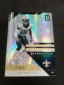 2018-Panini-Unparalleled-137-Ken-Crawley-New-Orleans-Saints-RC-Rookie-Card