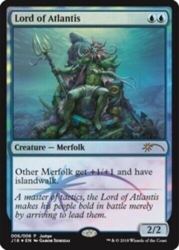 1x Lord of of of Atlantis - Foil DCI Judge Promo NM-Mint, English Unique & Misc Promos d145e0