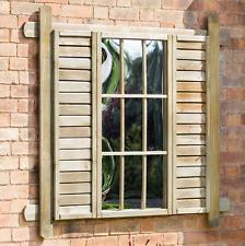 Garden Mirror Wood Wall Outdoor Window Illusion Patio Trellis Terrace Ornament