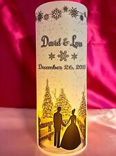 10 Personalized Wedding Luminaries Table Centerpieces Decor Winter Snowflakes #3