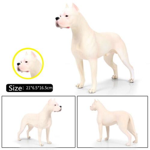 Hunter Dogo Argentinos Dog Pet Animal Figure Model Toy Collector Decor Kid Gift