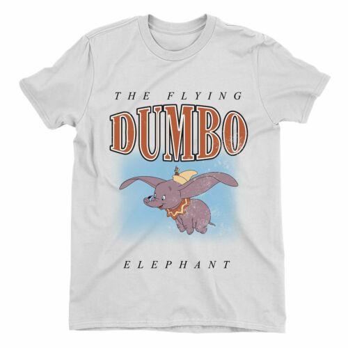 Dumbo The Flying Elephant Children/'s Unisex White T-Shirt
