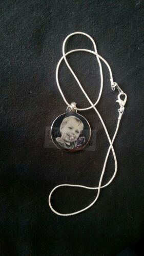 Wedding Birthday Gift Personalised Circle Engraved Necklace /& Pendant