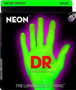 dr ngb6 30 neon green bass guitar strings 6 string set gauges 30 125 690003334228 ebay. Black Bedroom Furniture Sets. Home Design Ideas