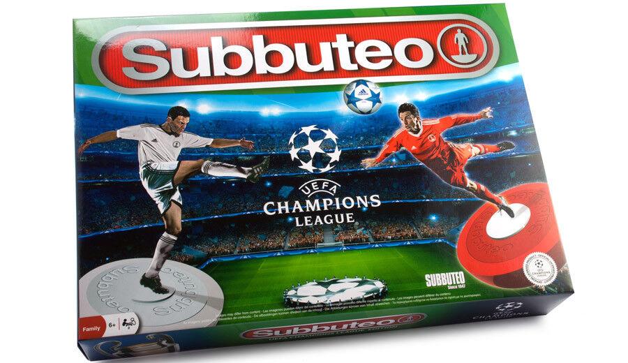 SUBBUTEO UEFA CHAMPIONS LEAGUE EDITION Gioco da Paul Lamond Nuovo e Sigillato