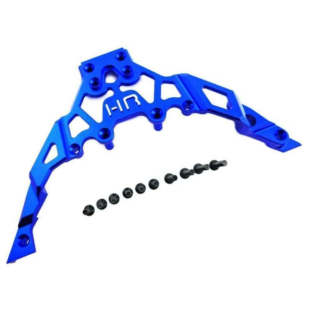 Hot Racing RC YET14U06 Alum Fr Upper Chassis Bulkhead Clip blu Yeti