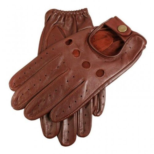 Dents Delta Leather Classic Driving Gloves ENGLISH TAN