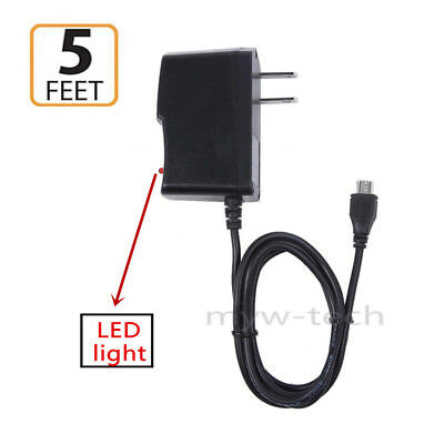 """AC Power Adapter For Amazon Kindle Fire HD 10 tablet PC 10.1/"""" DC Car Charger"""