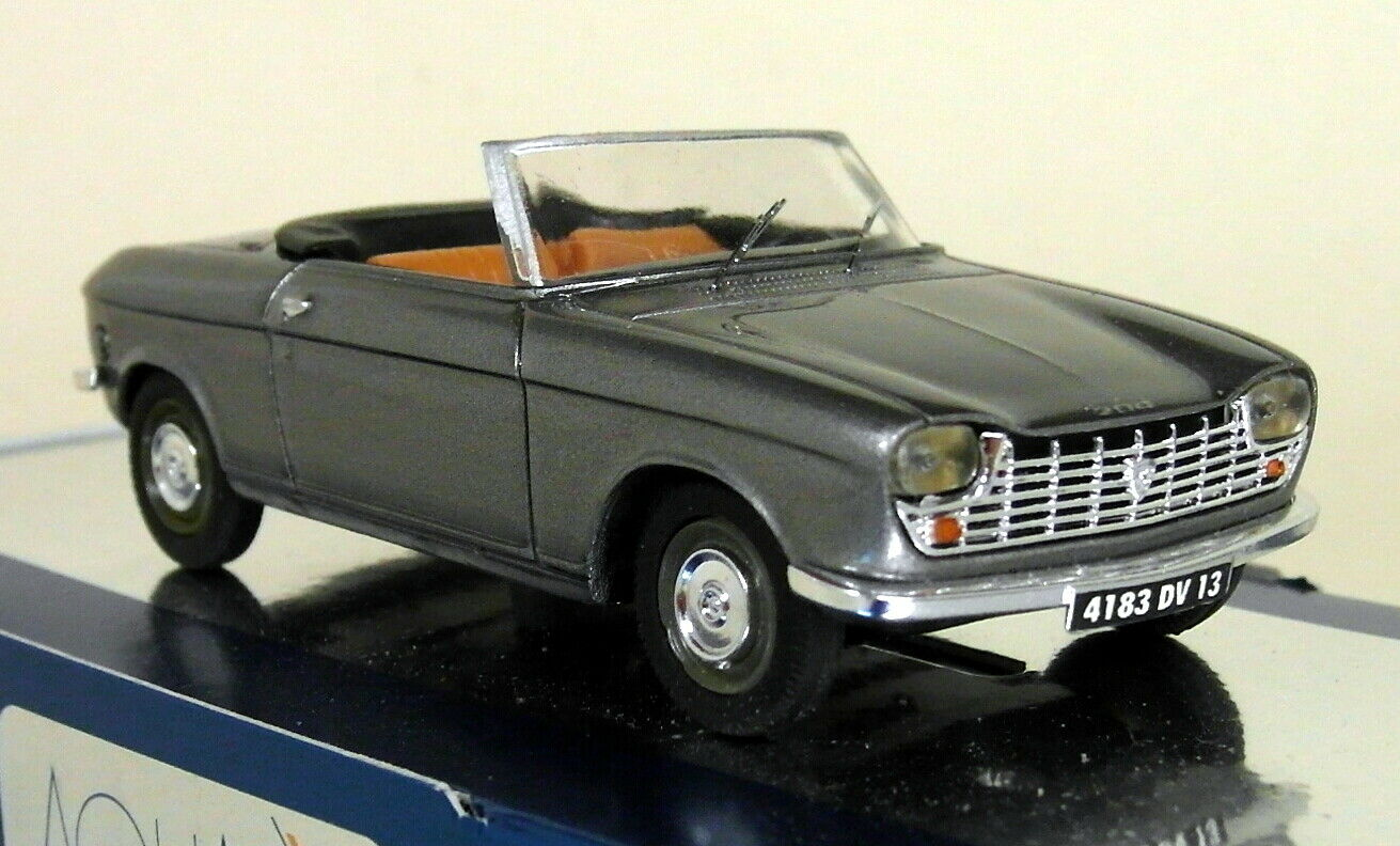 Aquavit 1 43 Scale Peugeot 204 Phase 1 Cabrio Metallic Grey Resin model Car