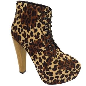 LADIES-LEOPARD-PRINT-LACE-UP-PLATFORM-HIGH-BLOCK-HEEL-ANKLE-BOOTS-SHOES-SIZE-3-8