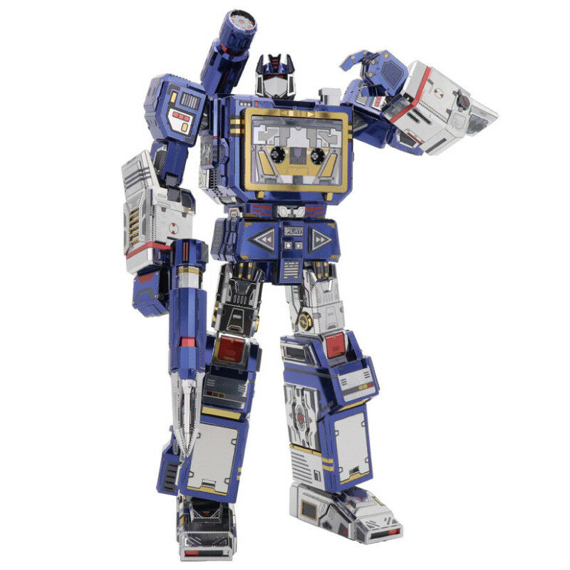 MU Transformers Soundwave G1 3D Metal Puzzle DIY Assemble Model Kits Jigsaw Toys
