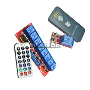 1//8 Channel Infrared Remote Control Switch Relay Multi-function 5//12V LED