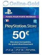 Compte français - Carte Playstation Network 50 EUR -50 PSN Jeu PS3 PS4 PS Vita