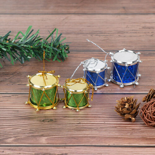 12pcs colorful Mini Small drum Christmas Ornament Christmas Tree Decoration UKCM