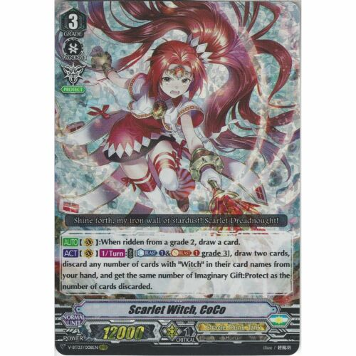 Vanguard Scarlet Witch V-BT03//008EN RRR Cardfight! Triple Rare Card CoCo