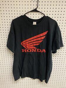Honda-Black-Graphic-Logo-T-shirt-Size-XL