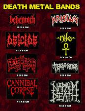 Patch Death Metal Bands, Behemoth, Deicide, Belphegor, Cannibal Corpse, Krisiun