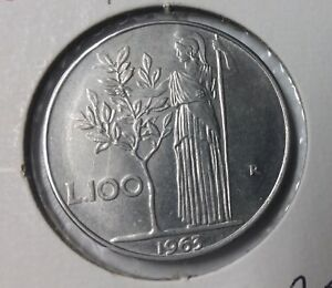1963-Italy-100-Lira-Athena-Olive-nice