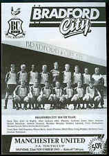 Bradford City v Man Utd - FA Youth Cup - 1993 - Football Programme