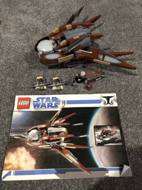 Lego Star Wars 7752 Count Dooku's Solar Sailer 100% Complete with Instructions!