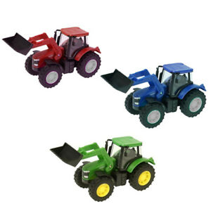 Small-Kids-Farm-Tractor-3-Colours-Tractor-Toy-Farm-12cm-Play-Set-1-43-scale