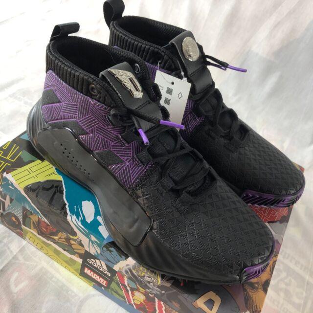 Adidas x Marvel Avengers Dame 5 Boys Basketball Shoes Size 5 Black Panther NIB