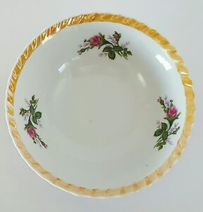 Vintage-Lusterware-Serving-Bowl-Made-in-Japan-Trim-Floral-Roses-7-034
