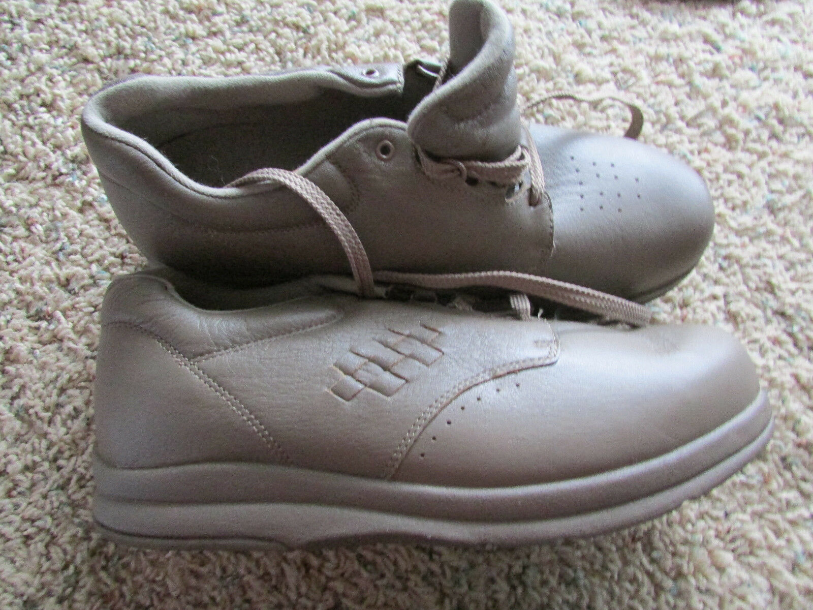 PW MINOR THERAPEUTIC DIABETIC ORTHODIC SHOES Uomo 12W TAUPE LEATHER NEW DISPLAY