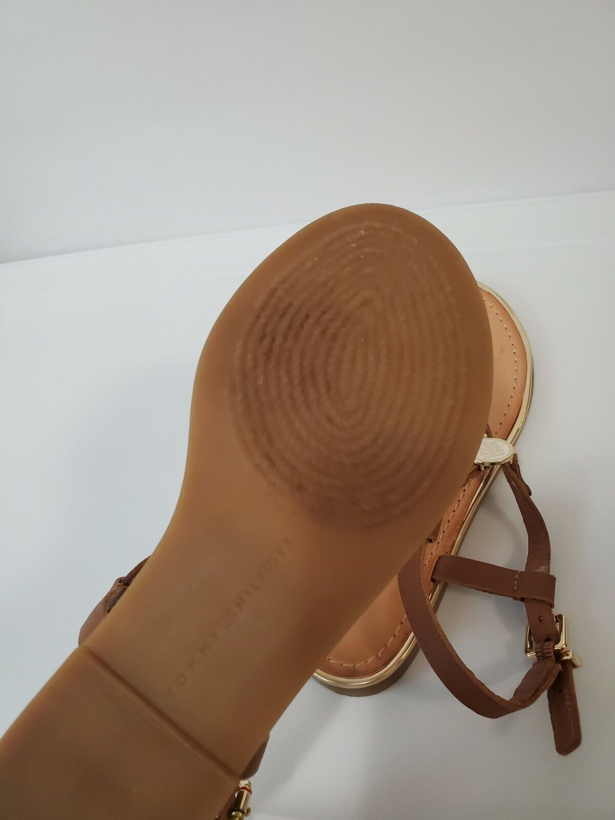 Tommy hilfiger women Brown Leather Sandals  - image 2