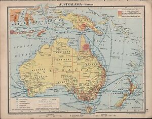 1939 MAP AUSTRALASIA SHIPPING ROUTES NETHERLANDS INDIES NEW