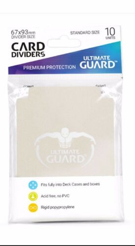Ultimate Guard Trading Card Storage Dividers Pack of 10 - SAND