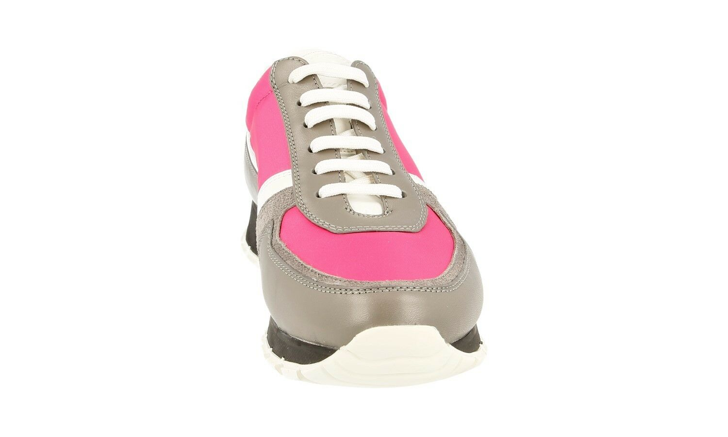 AUTH LUXURY PRADA SNEAKERS SHOES 3E6026 GREY PINK NEW NEW NEW 39,5 40 UK 6.5 0347a3